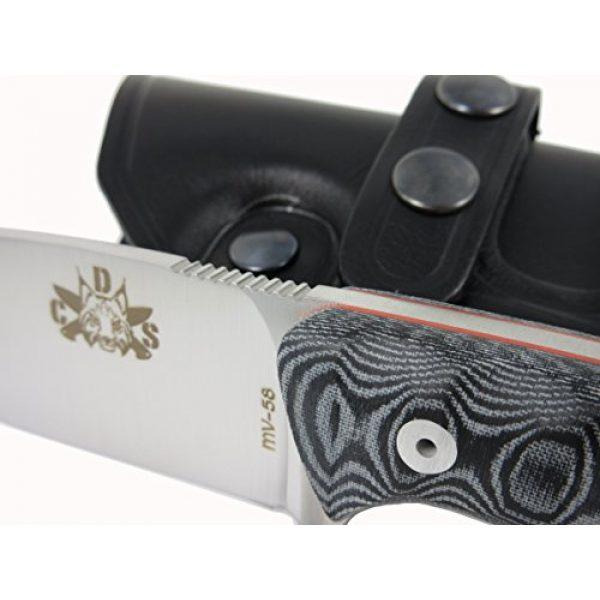 CDS-Survival Fixed Blade Survival Knife 3 Bushcraft Survival Hunting Knife, Stainless Steel MOVA-58, Genuine Leather Horizontal-Vertical Belt Sheath + Firesteel, Handmade