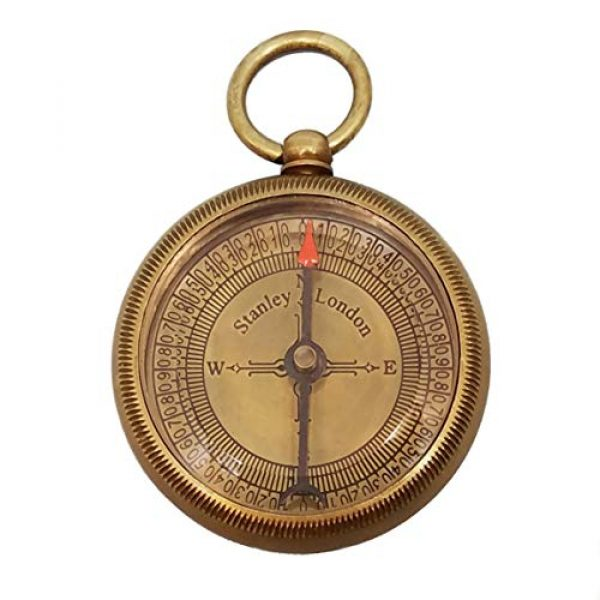 Stanley London Survival Compass 3 Stanley London Personalized Antique Open Faced Pocket Compass Gifts Engraved - 6 Designs - for Hiking, Graduation, Baptism, Confirmation, Anniversary, Him, Her, Husband, Dad, Son
