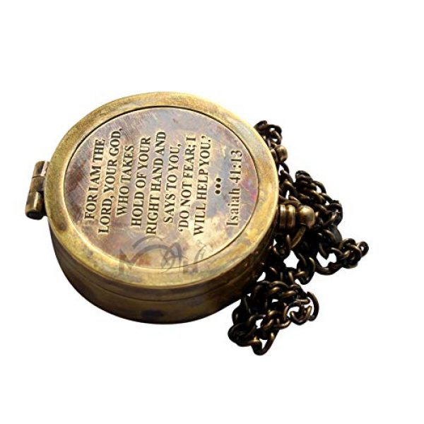 MAH Survival Compass 3 MAH for I AM The Lord, Your GOD. , Camping Compass Engraved with Gift Compass C-3116