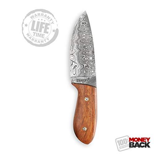 Perkin  4 Perkin Knives Custom Handmade Damascus Hunting Knife