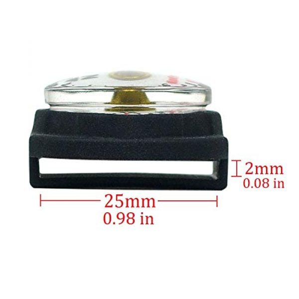 KanPas Survival Compass 4 KanPas Mini Luminous Button Compass for Watch Band Lanyard