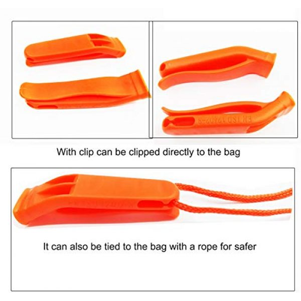 MALUAN Survival Whistle 3 MALUAN Outdoor Safety and Survival Whistles Emergency 18 Pack Whistle Plastic Set for Boating Camping Hiking Climbing, Double Tube Loud, Fishing Rescue, Easy to Install at The Waist