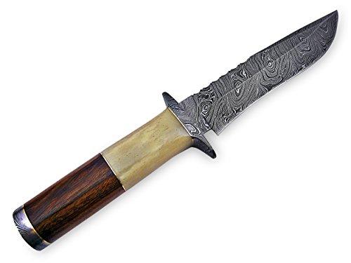 "Knife King Premium  3 Knife King Premium ""Custom Damascus Handmade Hunting Knife. with Leather Sheath"