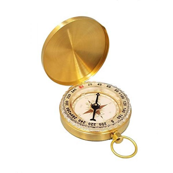 Stanley London Survival Compass 3 Stanley London Engraved Compass with Thoreau's Go Confidently Quote