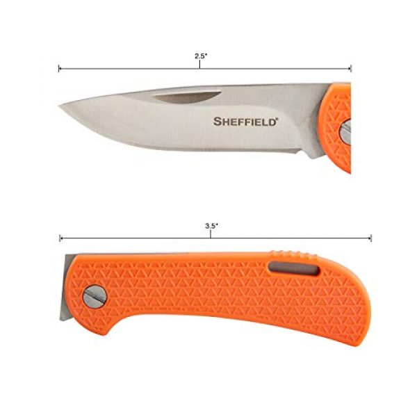 """Sheffield Folding Survival Knife 2 Sheffield 12207 Fallow 2.5"""" Folding Knife 