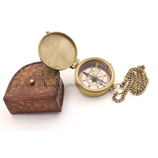 Roorkee Instruments India Survival Compass 3 Joshua 1:9 /Jeremiah 29 11/Proverbs 3: 5-16/Confirmation gift/God is with you/Be Strong And Courageous/Trust In the Lord/Engraved Compass/My Hero/Always Come Home/Keep Him Safe