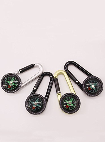 Snowmanna Survival Compass 2 Snowmanna-1Pc Mini Aluminum Compass Carabiner Key Chain Hook Outdoor Hiking Camping Survival Tool