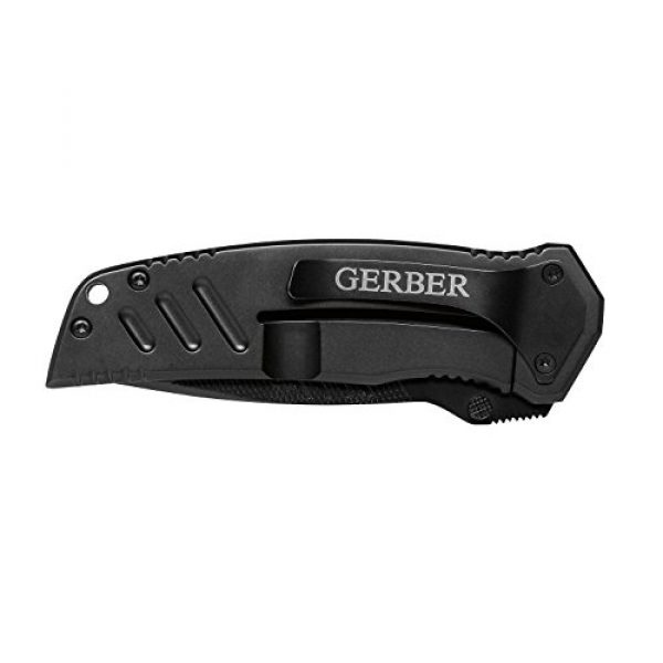 Gerber Gear Folding Survival Knife 3 Gerber Swagger Knife, Serrated Edge, Drop Point [31-000594],Black