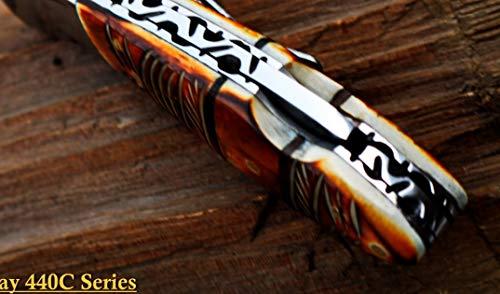 "DKC Knives  4 DKC Knives Sale DKC-58-LJ-EH-440c Little Jay Chief 440c Stainless Steel Folding Pocket Knife 4"" Folded 7"" Long 4.7oz oz High Class LJ-Series"