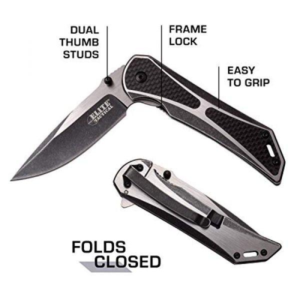 Elite Tactical Folding Survival Knife 5 Elite Tactical Folding Pocket Knife - ET-1008