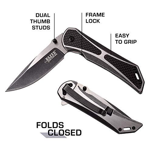 Elite Tactical  5 Elite Tactical Folding Pocket Knife - ET-1008