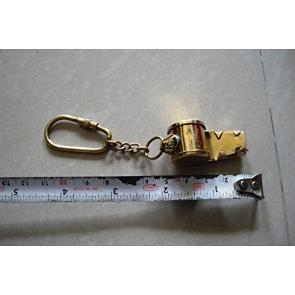 Brass Blessing Survival Whistle 5 Nautical Solid Brass Small Whistle Key Chain from Brass Blessing (17)