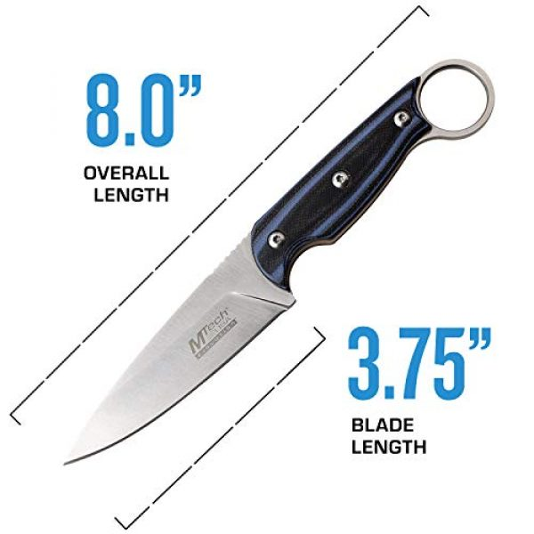 MTECH USA EVOLUTION Fixed Blade Survival Knife 4 MTech Evolution Tactical Fixed Blade Knife - MTE-FIX010-BL