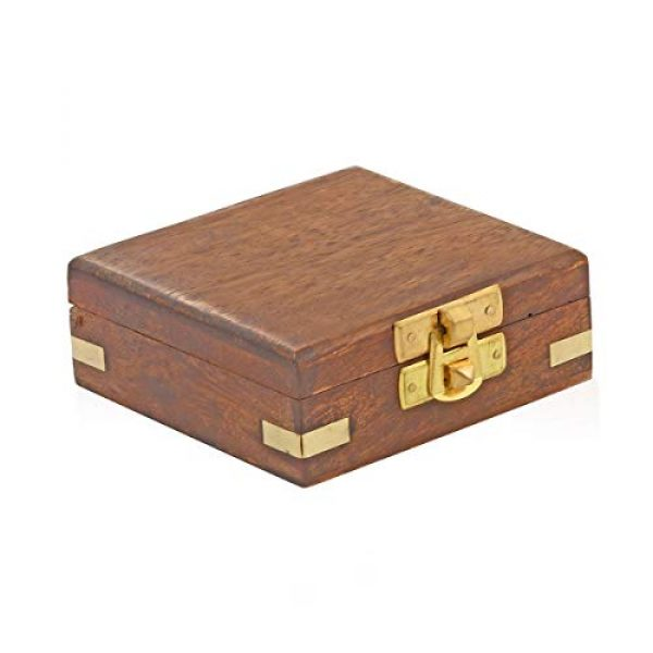 Shop LC Delivering Joy Survival Compass 2 Shop LC Delivering Joy Handcrafted Wooden Box with Built in Goldtone Compass Camping