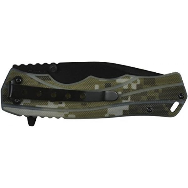 "GSI Tactical Folding Survival Knife 3 GSI Tactical Camo Blackout Ops Folding Knife 4.5"" Closed, 3.5"" Blade. HRC 53-55 Steel. Hunting Knife. Survival Knife. Military Knife."