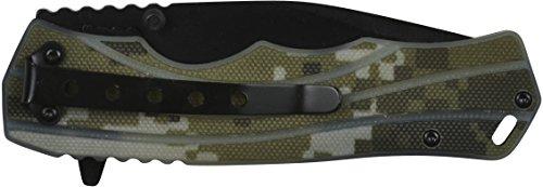 "GSI Tactical  2 GSI Tactical Camo Blackout Ops Folding Knife 4.5"" Closed"