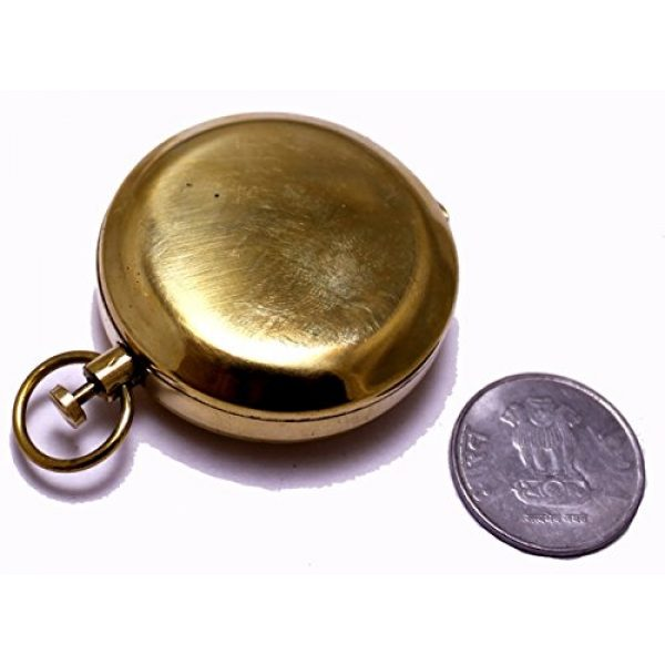 "NauticalMart Survival Compass 4 NauticalMart 1.75"" Classic Pocket Antique Style Camping Brass Compass"