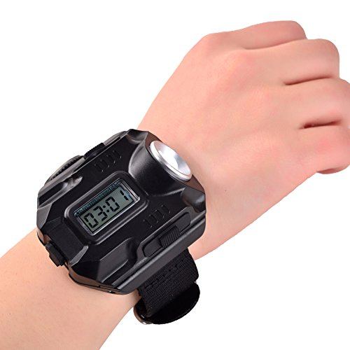 BlueSunshine  3 BlueSunshine Super Bright Wrist LED Light USB Rechargeable Waterproof LED Flashlight Wristlight Watch with Compass