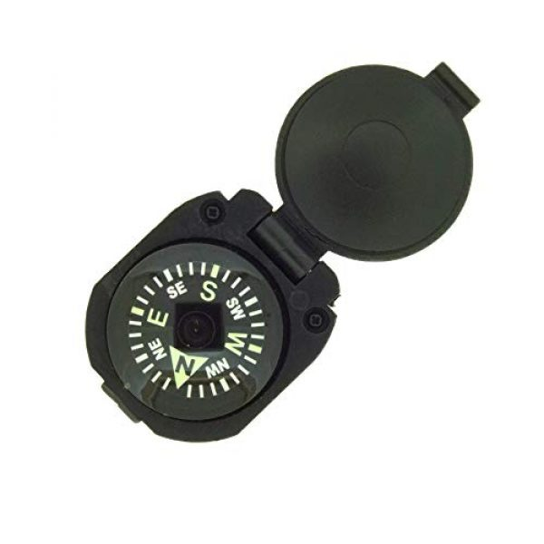 Sun Company Survival Compass 2 Sun Company Wrist Turtle - Armoured Wrist Compass with Closing Cover | Easy-to-Read Compass for Watch Band or Paracord Survival Bracelet