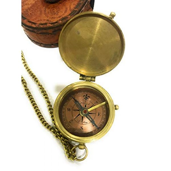 NauticalMart Survival Compass 4 NauticalMart Thoreau's Go Confidently Quote Engraved Compass with Stamped Leather case Camping Compass, Boating Compass, Gift Compass, Graduation Day Gifts