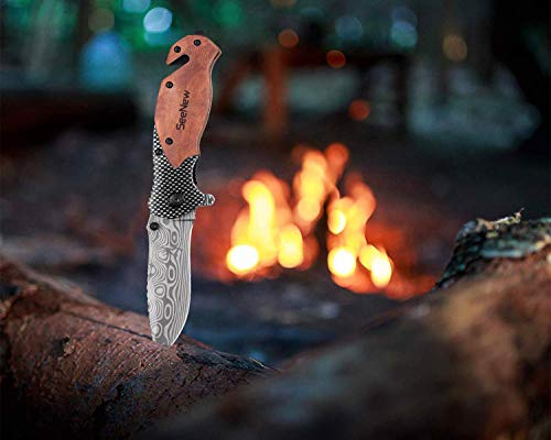 Outdoor Sturdy Tactical Pocket Knife with Steel Blade