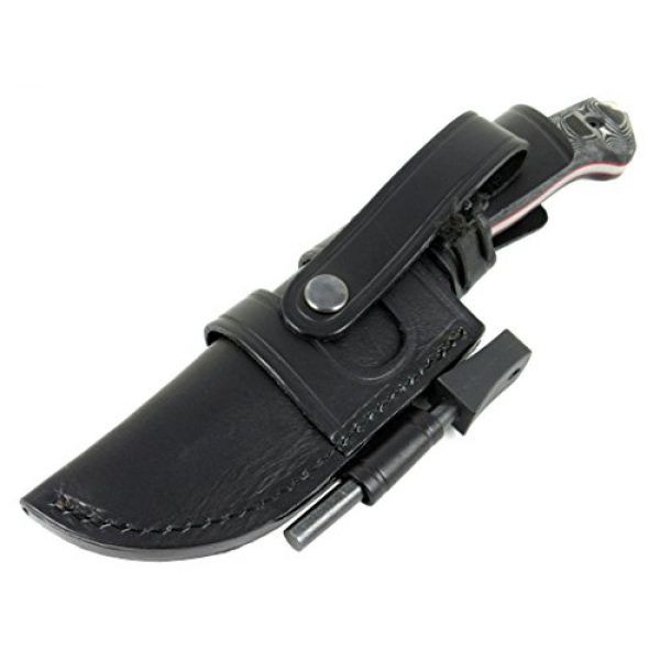 JEO-TEC Fixed Blade Survival Knife 6 JEO-TEC N29 Bushcraft Survival Hunting Camping Knife - MOVA-58 Stainless Steel - Multi-positioned Leather Sheath - Handmade in Spain