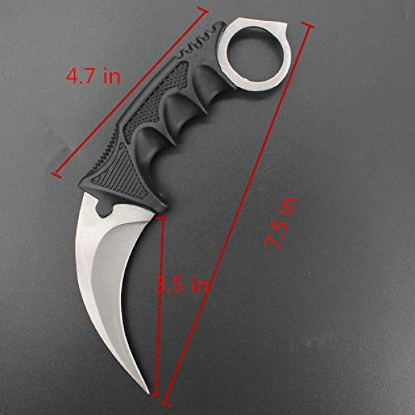 WeTop Fixed Blade Survival Knife 2 Karambit Knife, Set of 2, CS-GO for Hunting Camping Fishing Self Defenses and Field Survival, Stainless Steel Fixed Blade Tactical Knife with Sheath and Cord (Silver + Purple Dark).