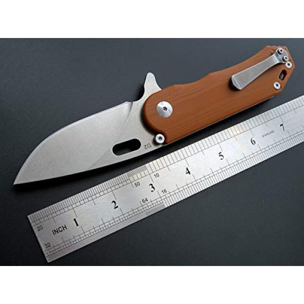 Eafengrow Folding Survival Knife 2 Eafengrow Pocket Knives D2 Blade and G10 Handle Folding Camping Knife Mini Outdoor Pocket Knife Survival Tool