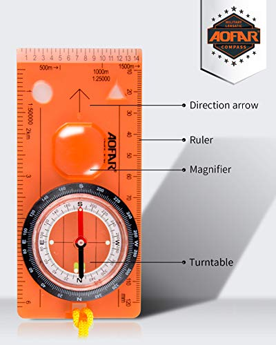 Boy Scout Compass for Kids - Professional Field Compass for Map Reading