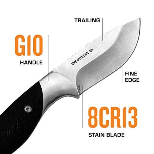 Elk Ridge Evolution Fixed Blade Survival Knife 3 Elk Ridge Evolution Fixed Blade Knife - ERE-FIX014PL-BK