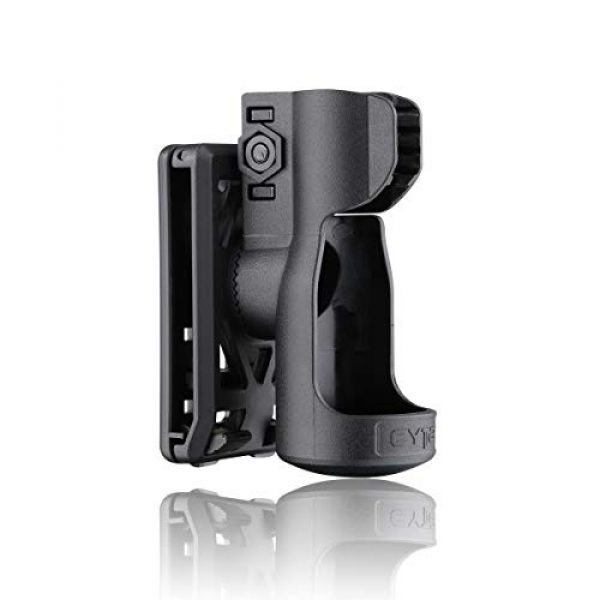 CYTAC Survival Flashlight 3 CYTAC Tactical Flashlight Holder, 360° Adjustable Flashlight Carrier for 1.14in Flashlight Head, Duty Belt Torch Pouch Flash Light Carrier -Black