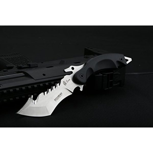 DELLE Fixed Blade Survival Knife 2 DELLE (Becoming) Wilderness Survival Knife with self-Defense Outdoor high Hardness Characteristic Small Straight Cutting Tool Field Tactical Knife