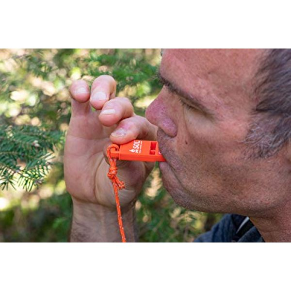 S.O.L. Survive Outdoors Longer Survival Whistle 3 S.O.L. Survive Outdoors Longer S.O.L. Slim Rescue Howler Whistle, 2 ct (Pack of 3)