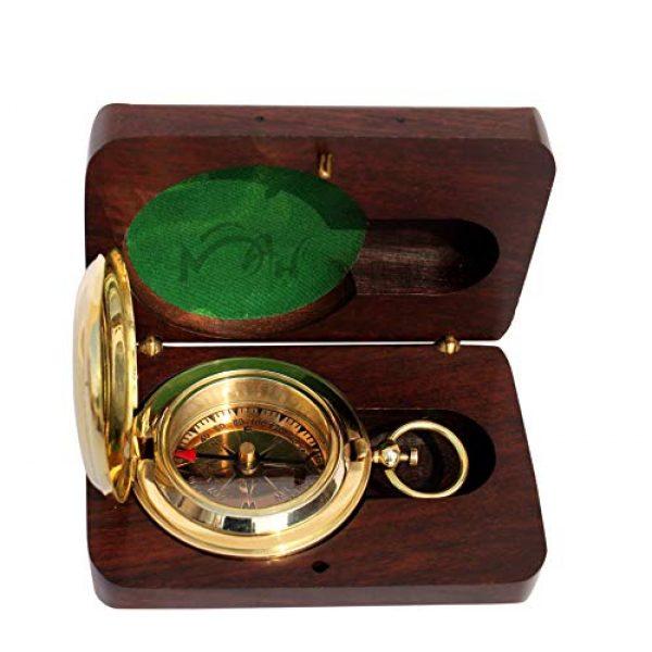 MAH Survival Compass 2 MAH Handmade Brass Push Button Engravable Direction Pocket Compass. C-3191