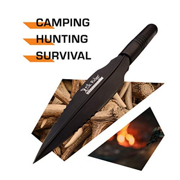 Elk Ridge Evolution Fixed Blade Survival Knife 2 Elk Ridge Evolution Spear Knife - ERE-SP001-BK