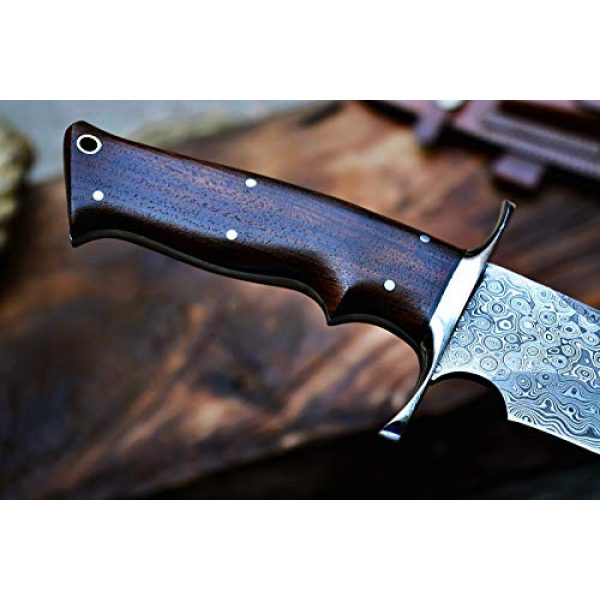 Bobcat Knives Fixed Blade Survival Knife 3 Bobcat Knives Custom Handmade Damascus Steel Bowie Knife with Leather Sheath