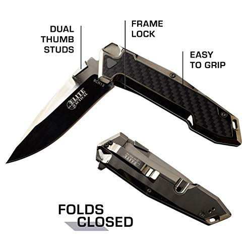 Elite Tactical  5 Elite Tactical Folding Knife - ET-1018GM