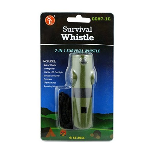 SE Survival Whistle 2 SE 7-IN-1 Green Survival Whistle - CCH7-1G