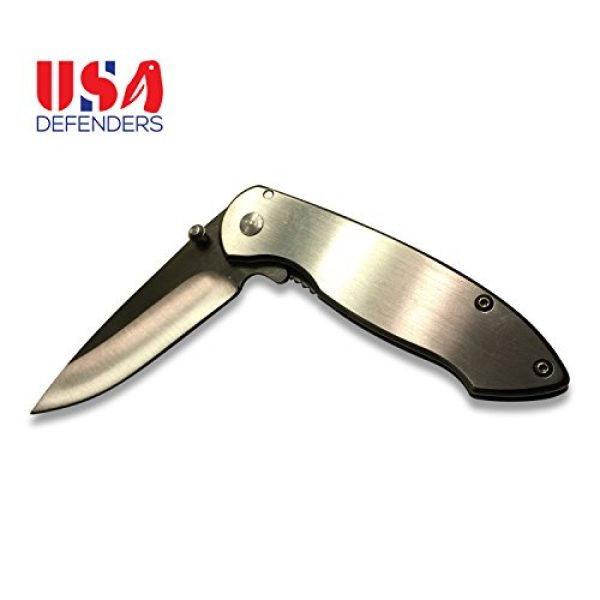 USA Defenders Folding Survival Knife 3 Best Spring Assisted Deer Hunting and Camping Folding Pocket Knife. This New Sharp Tanto Knives Is for All Tactical and Outdoor Rescue Activities. High Grade Stainless Steel Survival Specialty Point Blade with Clip makes it a Great Boy Scout Swiss Army Knife