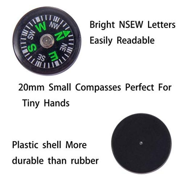 Wei Shang Survival Compass 5 Wei Shang 16Packs 20mm Mini Button Compasses Oil Filled for Camping Hiking Boating Survial Traveling
