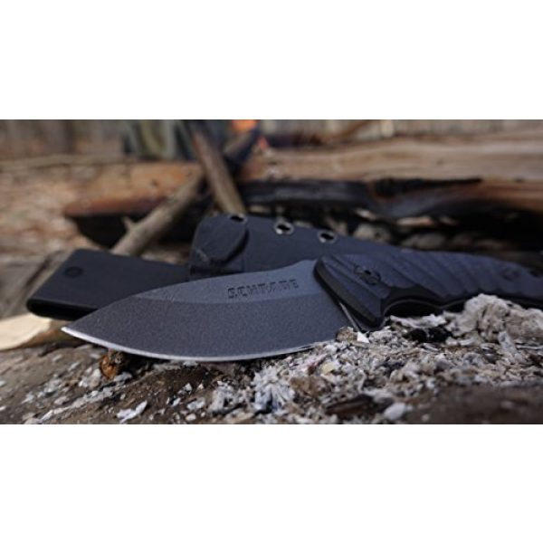 Schrade Fixed Blade Survival Knife 4 Schrade SCHF57 6.3in Steel Full Tang Fixed Blade Knife with 2.6in Drop Point Blade and G-10 Handle for Outdoor Survival, Camping and EDC