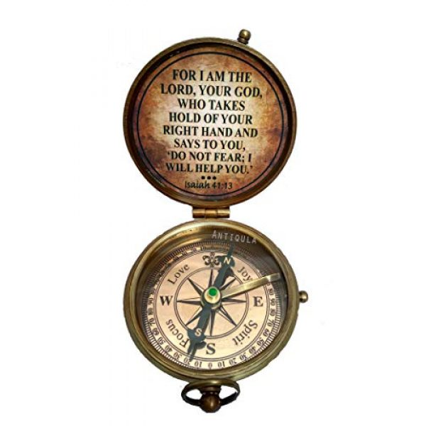 Antiqula Survival Compass 2 All I Want for Christmas is You Engraved Brass Antique Look Vintage Compass with Real Leather Case Antishock Outdoor Camping Hiking Home Decor staedtler Compass for Kids