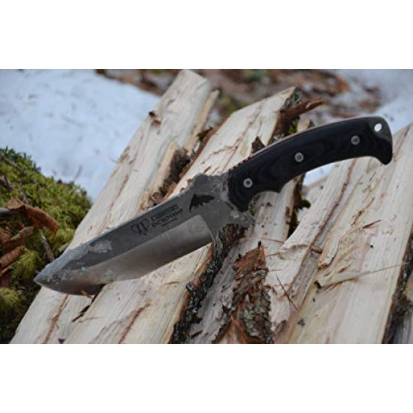 Cudeman Fixed Blade Survival Knife 5 Cudeman Survival Knife 155-M MOVA ENTRESIERRAS, Sport use, Micarta Handle, Basic Kit, Camping Tool for Fishing, Hunting, Sport Activity + Multifunction Gift Card