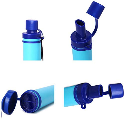 Latesco4Happy  7 Latesco4Happy Portable Purifier Water Filter Straw Gear Camping Hiking Emergency Life Survival
