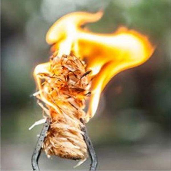 AOS Products LLC Survival Fire Starter 6 AOS Products Emergency Fire Starter Rod w/BONUS Tinder-15,000+ Strike Ferro Rod-Neck Lanyard-All Weather Firesteel Rod Multipurpose Striker-Wood Handle-Bushcraft Preppers Camping Hunting Fishing Survi