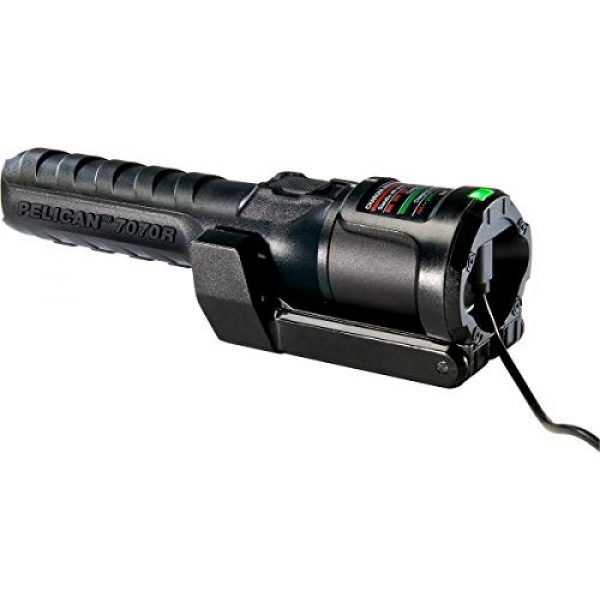 Pelican Survival Flashlight 4 Pelican 7070R Rechargeable Tactical LED Flashlight (Black)