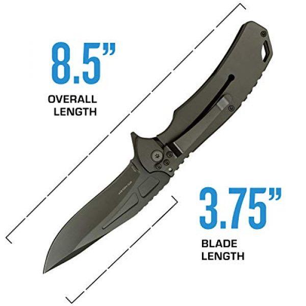 MTECH USA EVOLUTION Folding Survival Knife 4 MTech Evolution Spring Assisted Knife - MTE-A023-BYP