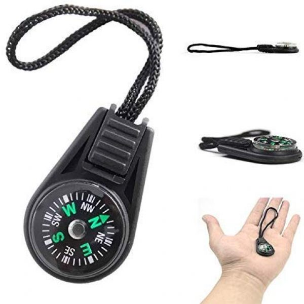 SPY SEE OPEN YOUR EYES Survival Compass 2 SPYSEE Mini Survival Compass Pack of 20 - Outdoor Camping Hiking Pocket Compass Liquid Filled Mini Compass for Paracord Bracelet Necklace Key Chain