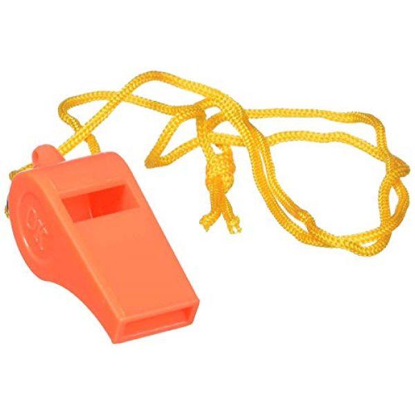 "SE Survival Whistle 2 SE Orange Plastic Whistles with 14"" Lanyards (100 PC.) - WH3-B-100"