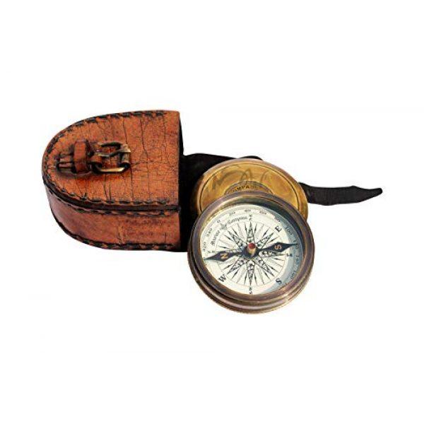 MAH Survival Compass 6 MAH Robert Frost Brass Poem Compass. C-3122